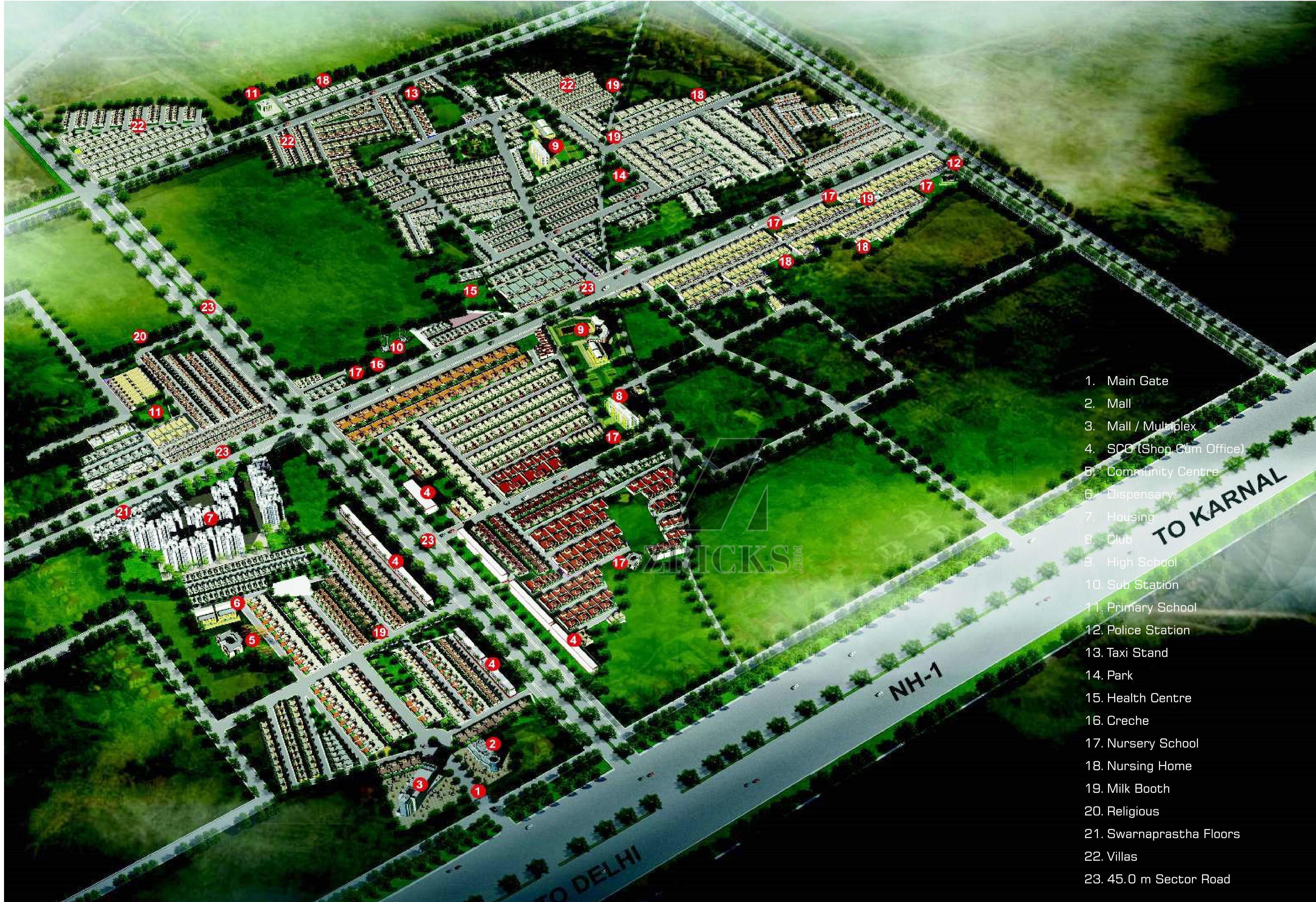 Omaxe City Villas Sector 8 Gt Road Sonipat Zricks Com