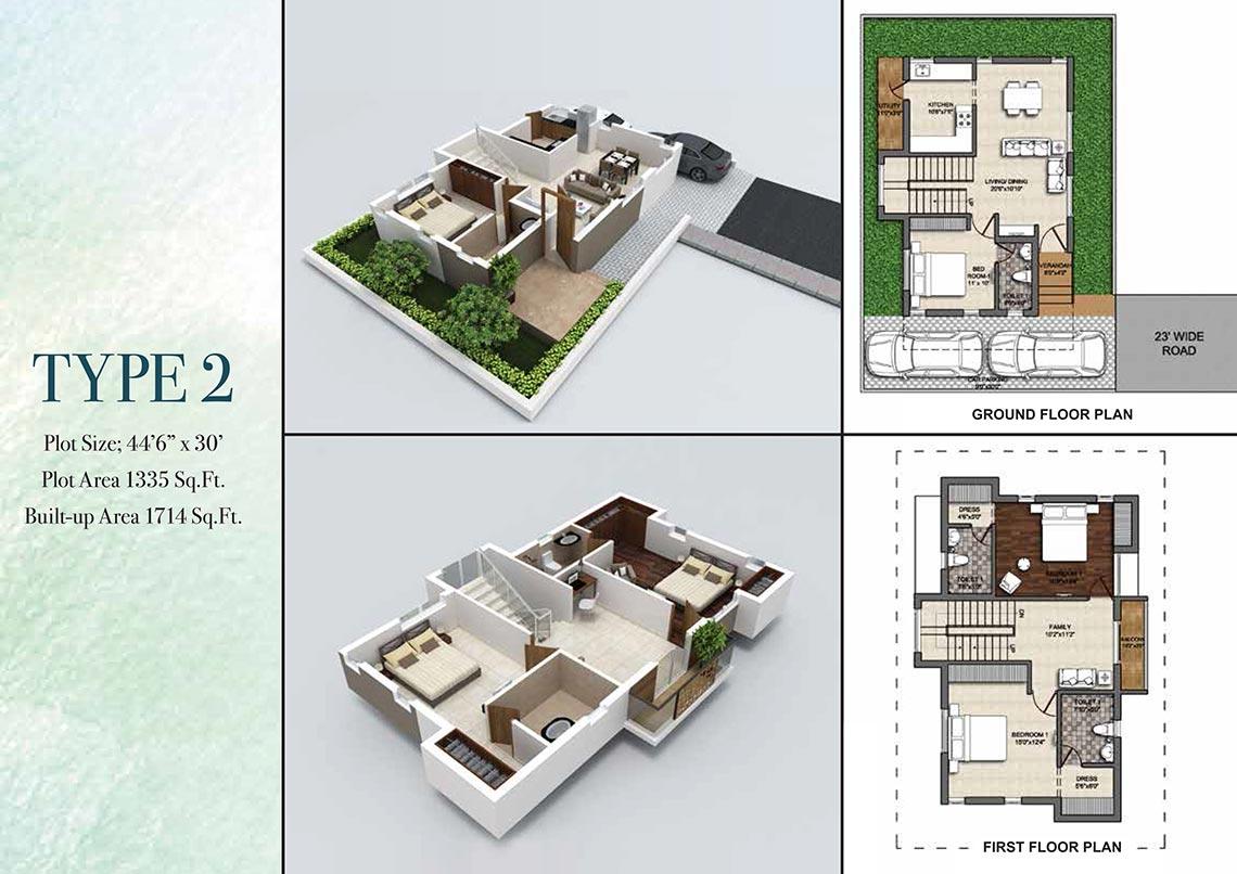 3 Bhk Villa 1714 Sq Ft For Sale In Bbcl Villa Haven Chennai Zricks Com