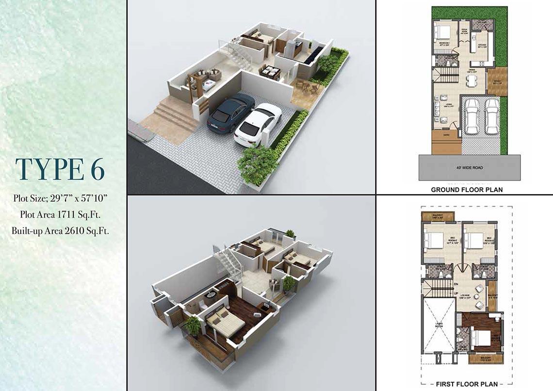 4 Bhk Villa 2610 Sq Ft For Sale In Bbcl Villa Haven Chennai Zricks Com