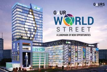 Gaur World Street Mall Banner
