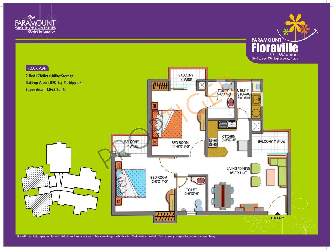 2 Bhk Apartment For Sale In Paramount Floraville Noida Zricks Com