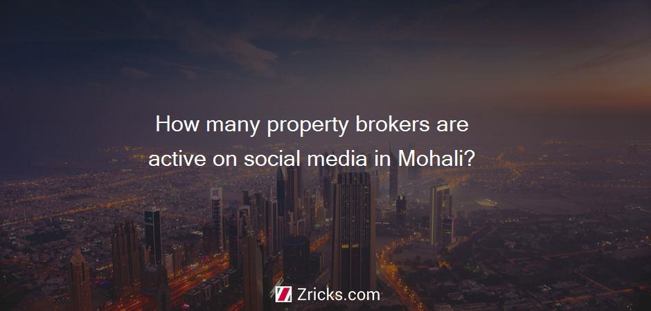 How many property brokers are active on social media in Mohali?