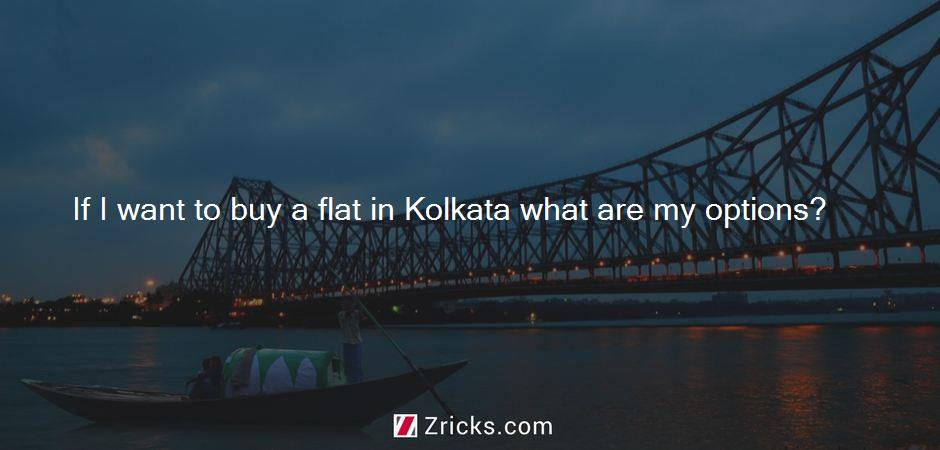 If I want to buy a flat in Kolkata what are my options?