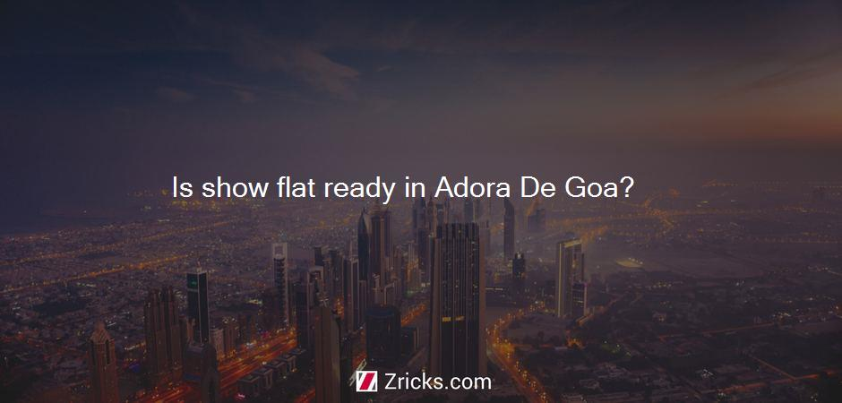 Is show flat ready in Adora De Goa?
