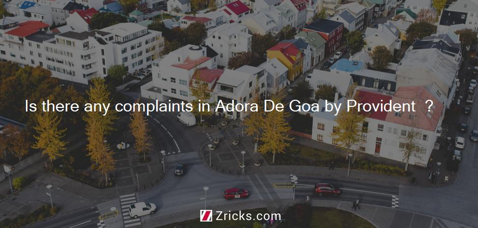 Is there any complaints in Adora De Goa by Provident  ?