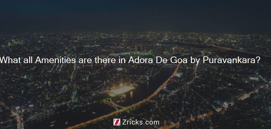 What all Amenities are there in Adora De Goa by Puravankara?