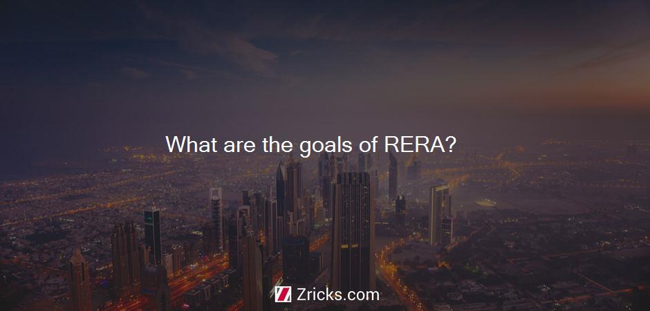 What are the goals of RERA?