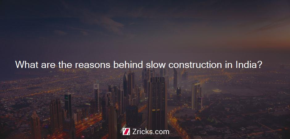 What are the reasons behind slow construction in India?