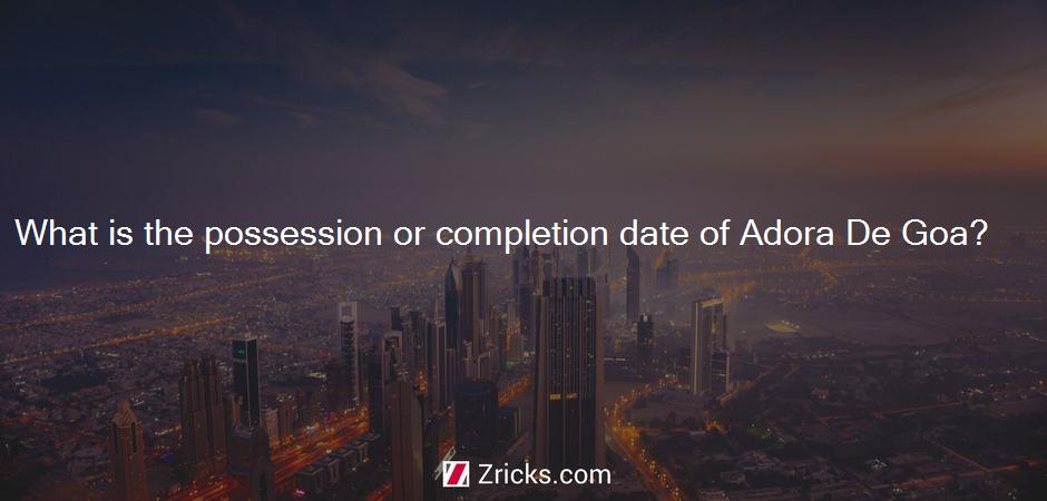 What is the possession or completion date of Adora De Goa?