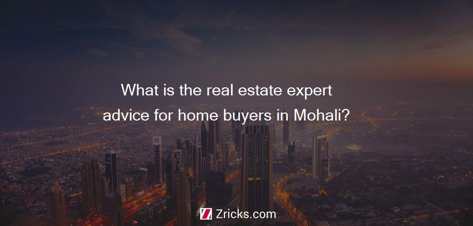 What is the real estate expert advice for home buyers in Mohali?