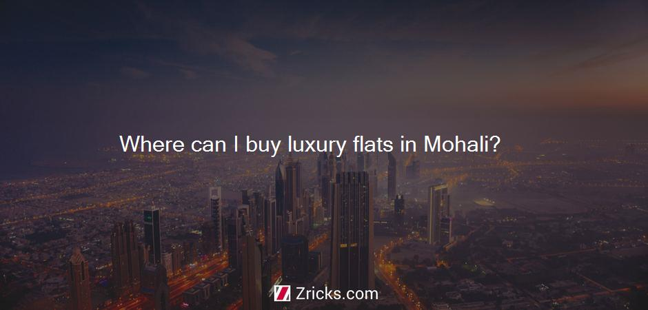 Where can I buy luxury flats in Mohali?