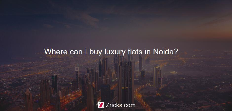Where can I buy luxury flats in Noida?