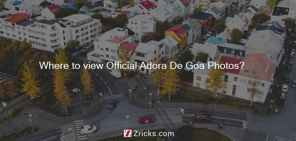 Where to view Official Adora De Goa Photos?