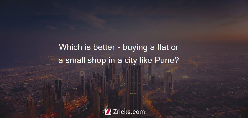 Which is better - buying a flat or a small shop in a city like Pune?