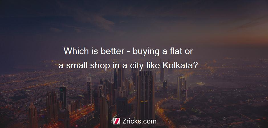 Which is better - buying a flat or a small shop in a city like Kolkata?
