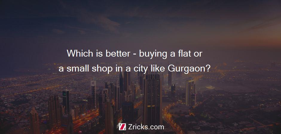 Which is better - buying a flat or a small shop in a city like Gurgaon?