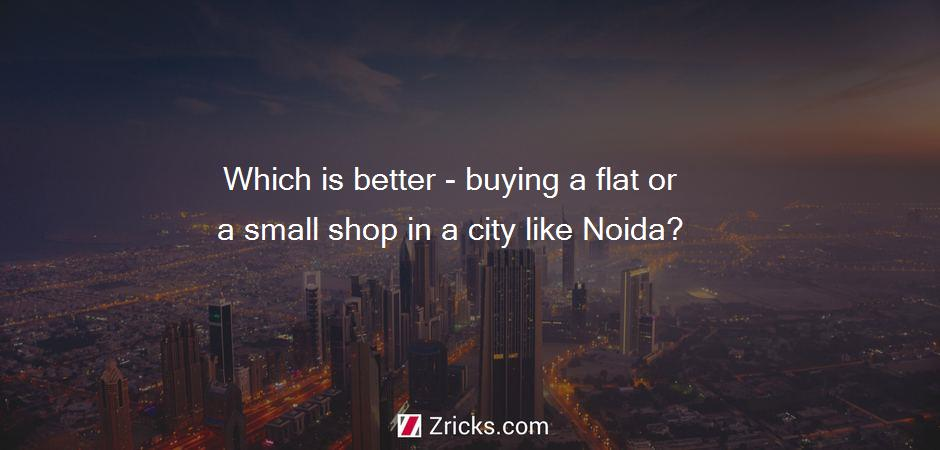 Which is better - buying a flat or a small shop in a city like Noida?