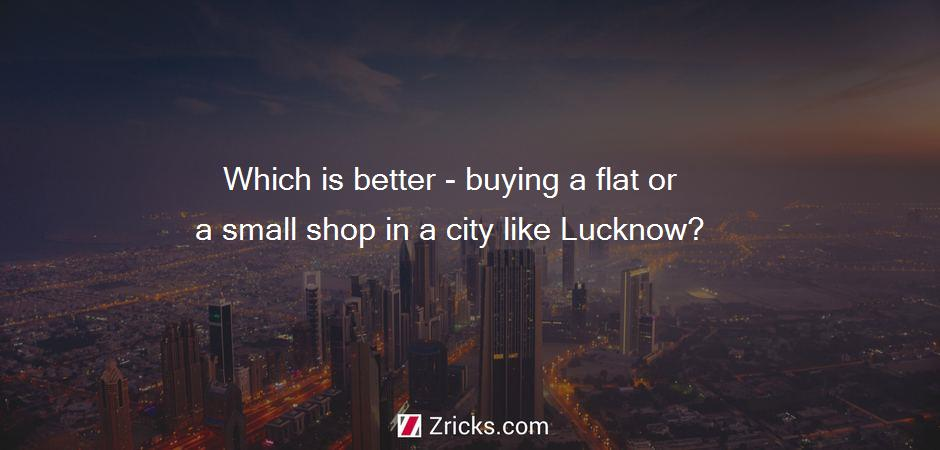 Which is better - buying a flat or a small shop in a city like Lucknow?