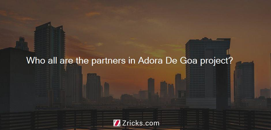 Who all are the partners in Adora De Goa project?