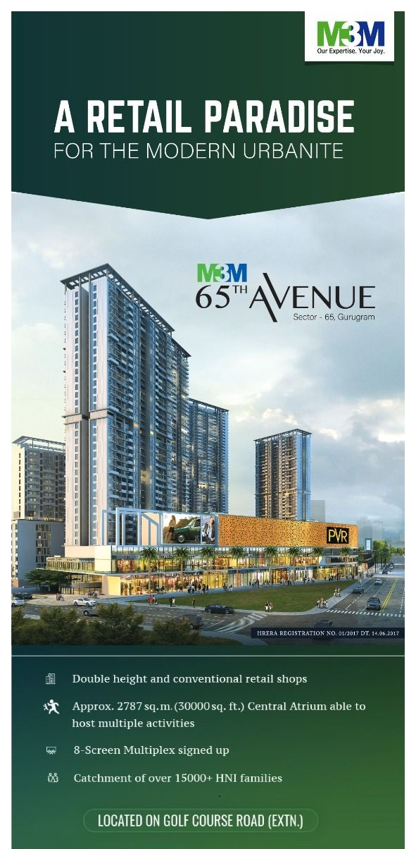 The ultimate international shopping hub at M3M 65th Avenue in Sector 65 Gurgaon Photo