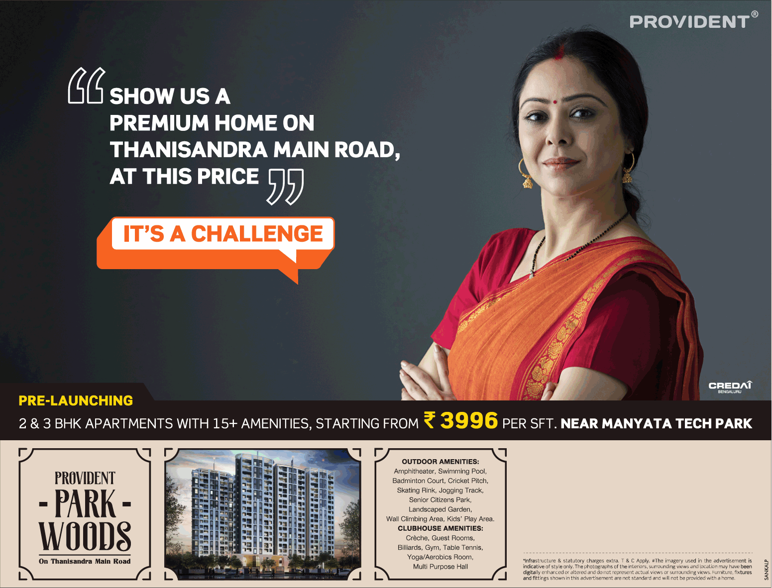 Book 2 3 bhk apartments with 15 amenities at Rs 3996 per sqft at Provident Park Woods in Bangalore