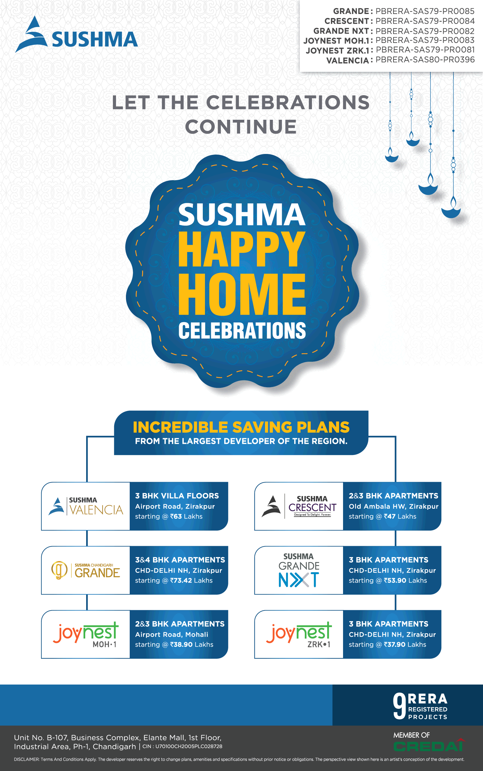 Let the celebrations continue at Sushma Buildtech in Chandigarh