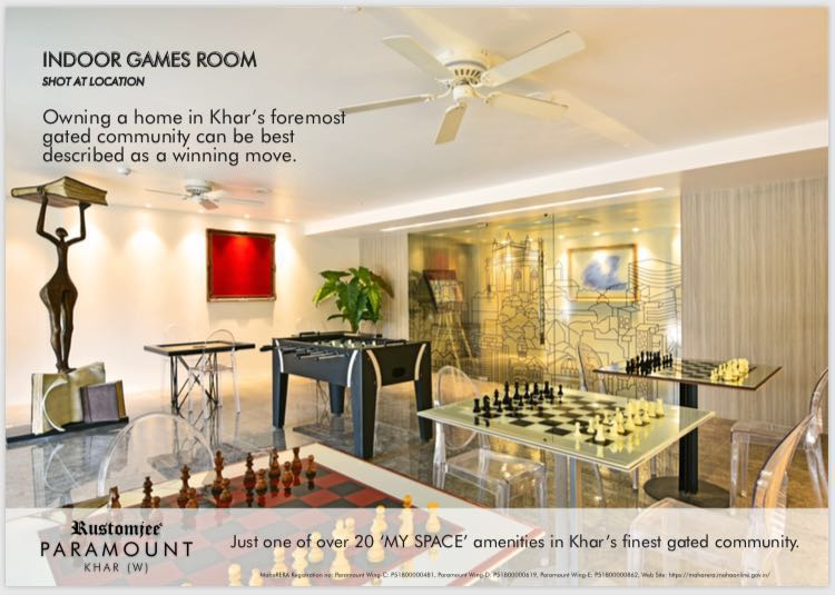 Classic Indoor Games Room For You At Rustomjee Paramount In Mumbai