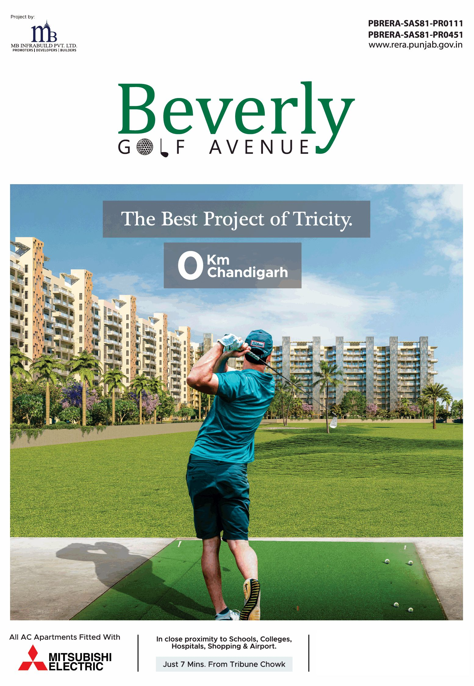 A landmark on the tricity skyline with stunning views at MB Beverly Golf Avenue Mohali Photo