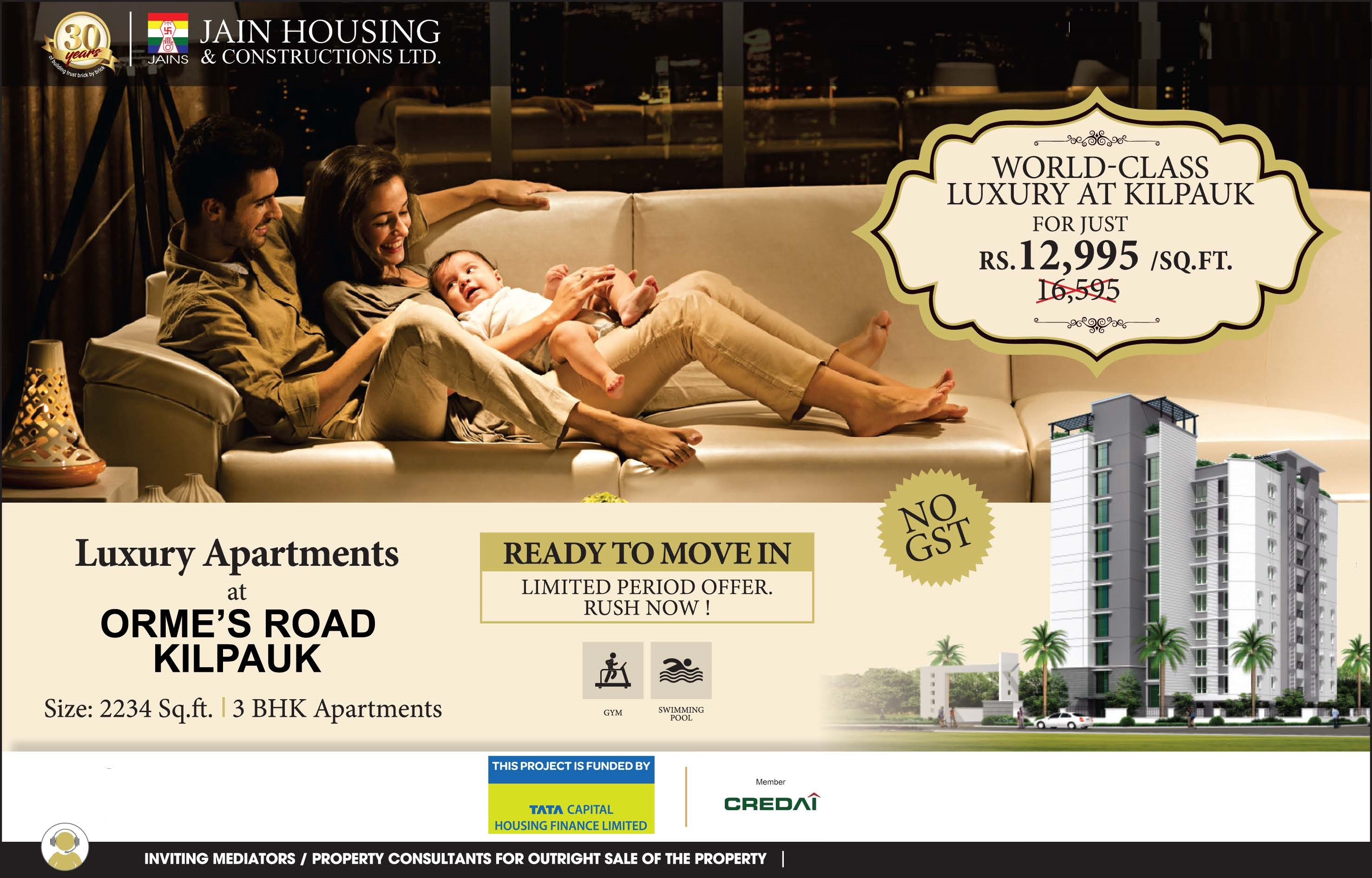 Ready to move in limited period offer rush now at Jains Archway Chennai