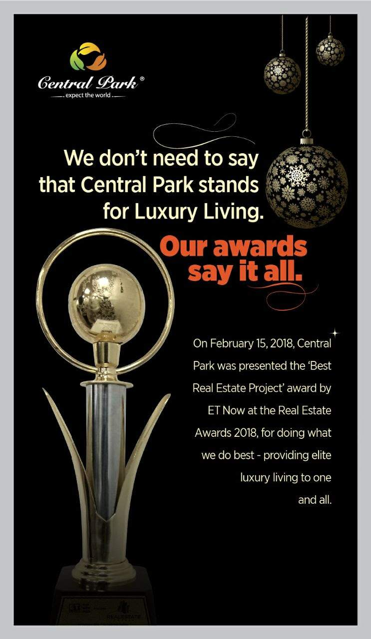 Central Park Resorts awarded Best Real Estate Project Award by ET Now