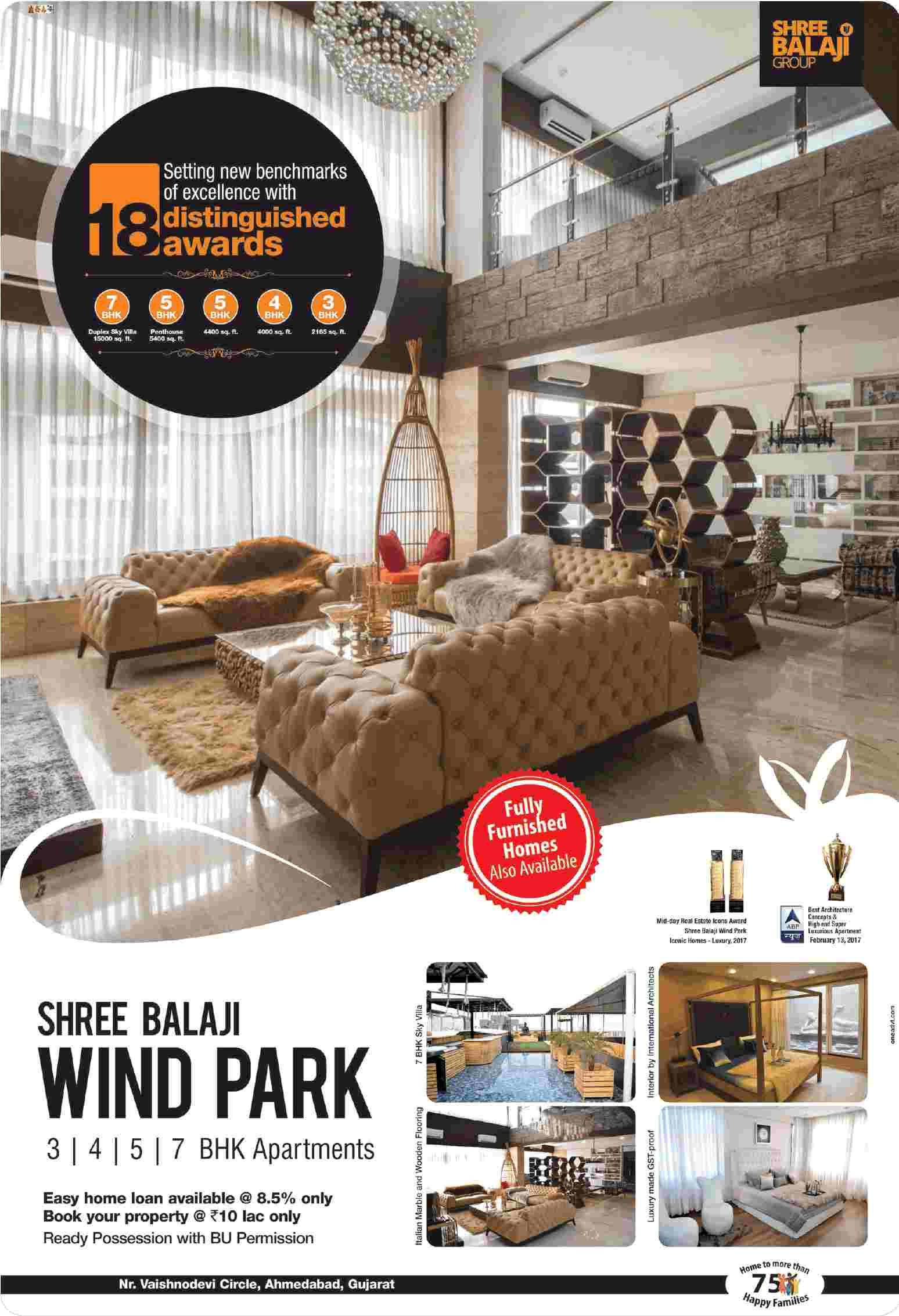 Book your home at Rs 10 Lac only at Shree Balaji Wind Park in Ahmedabad