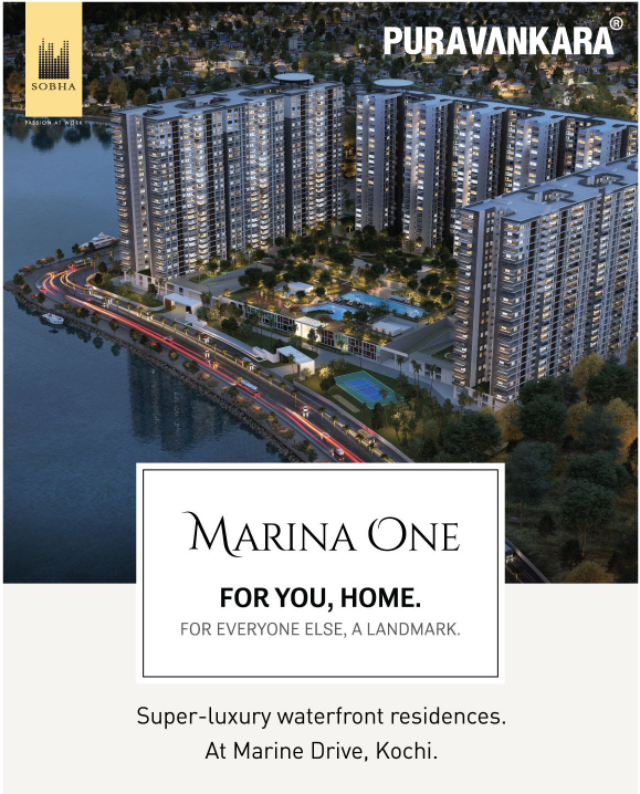 Avail super luxury waterfront residences at Purva Marina One in Kochi