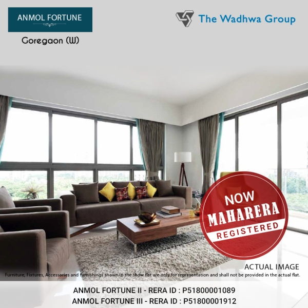 The Wadhwa Anmol Fortune is now MahaRERA Registered