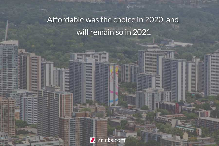 Affordable was the choice in 2020 and will remain so in 2021