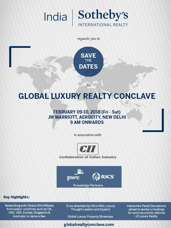 India Sotheby S International Realty Invites You To Global Luxury Realty  Conclave 2018