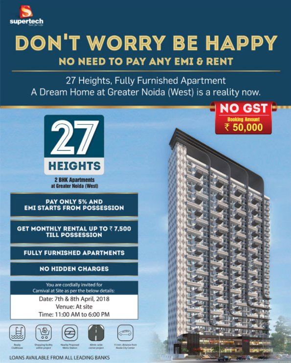 Properties Rental: Get Monthly Rental Upto Rs 7500 Till Possession At