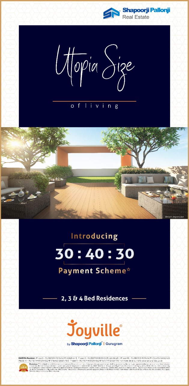 Introducing 30 40 30 payment scheme at Shapoorji Pallonji Joyville in Dwarka Expressway Gurgaon Photo