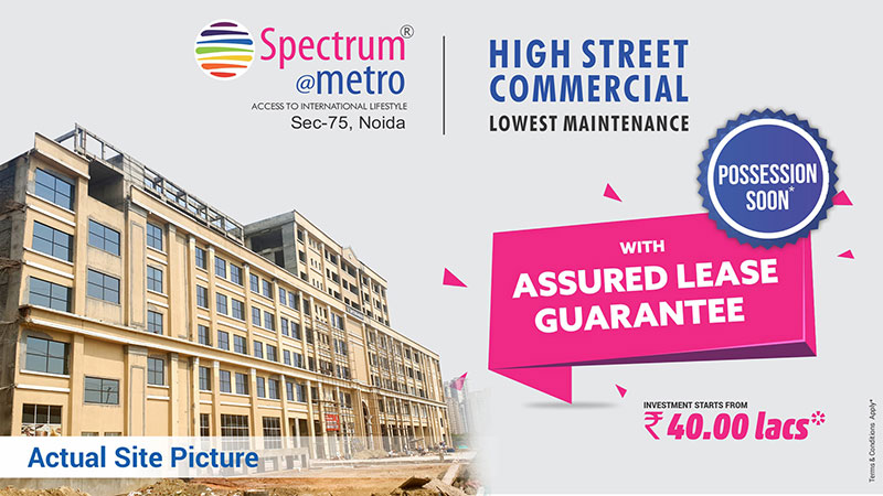 Possession soon with assured lease guarantee at Blue Spectrum Metro Noida