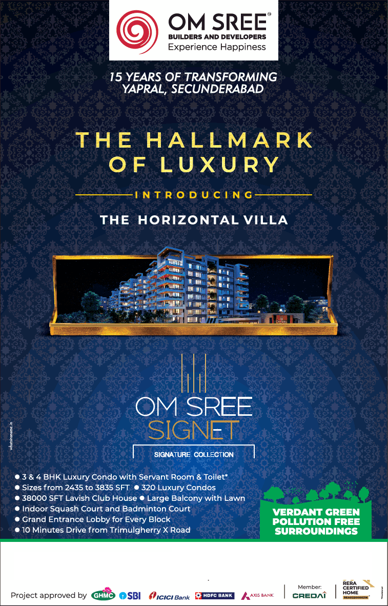 Introducing the villa at Om Sree Signet Hyderabad