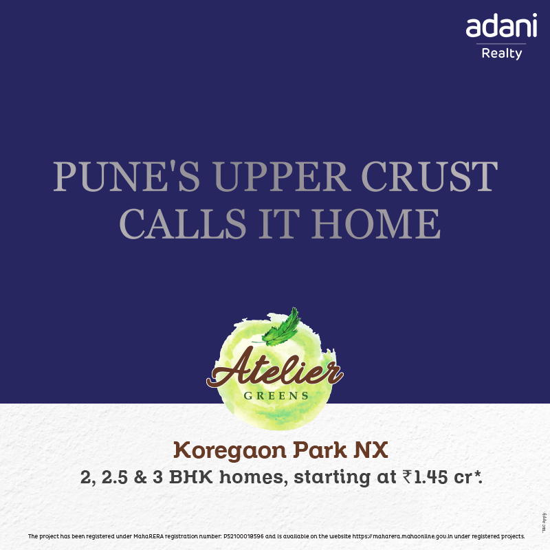 Book 2 Bhk Homes Starting At Rs 1 45 Cr At Adani Atelier Greens In Pune Zricks Com
