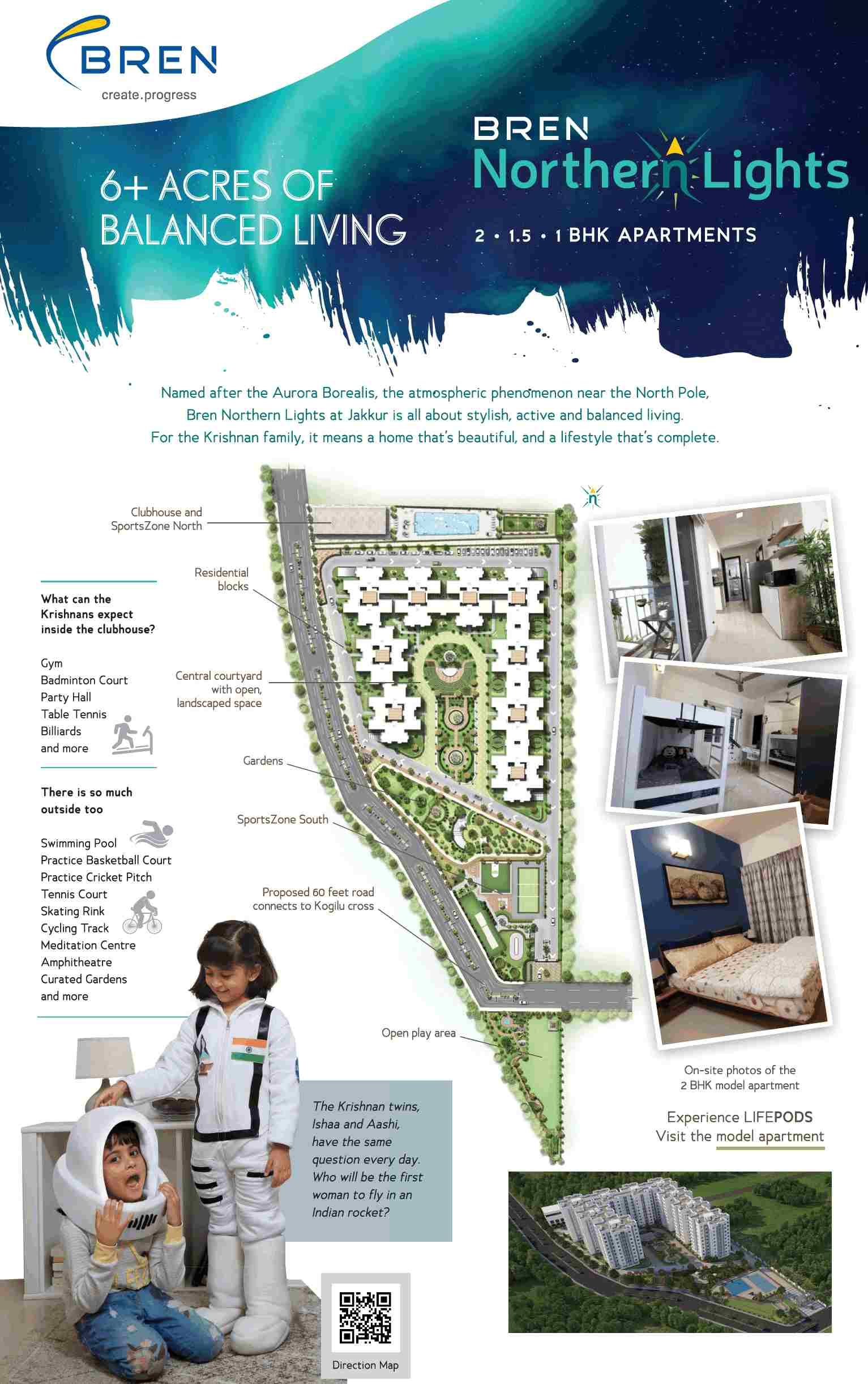 Model apartments ready for visit at Bren Northern Lights in ... on