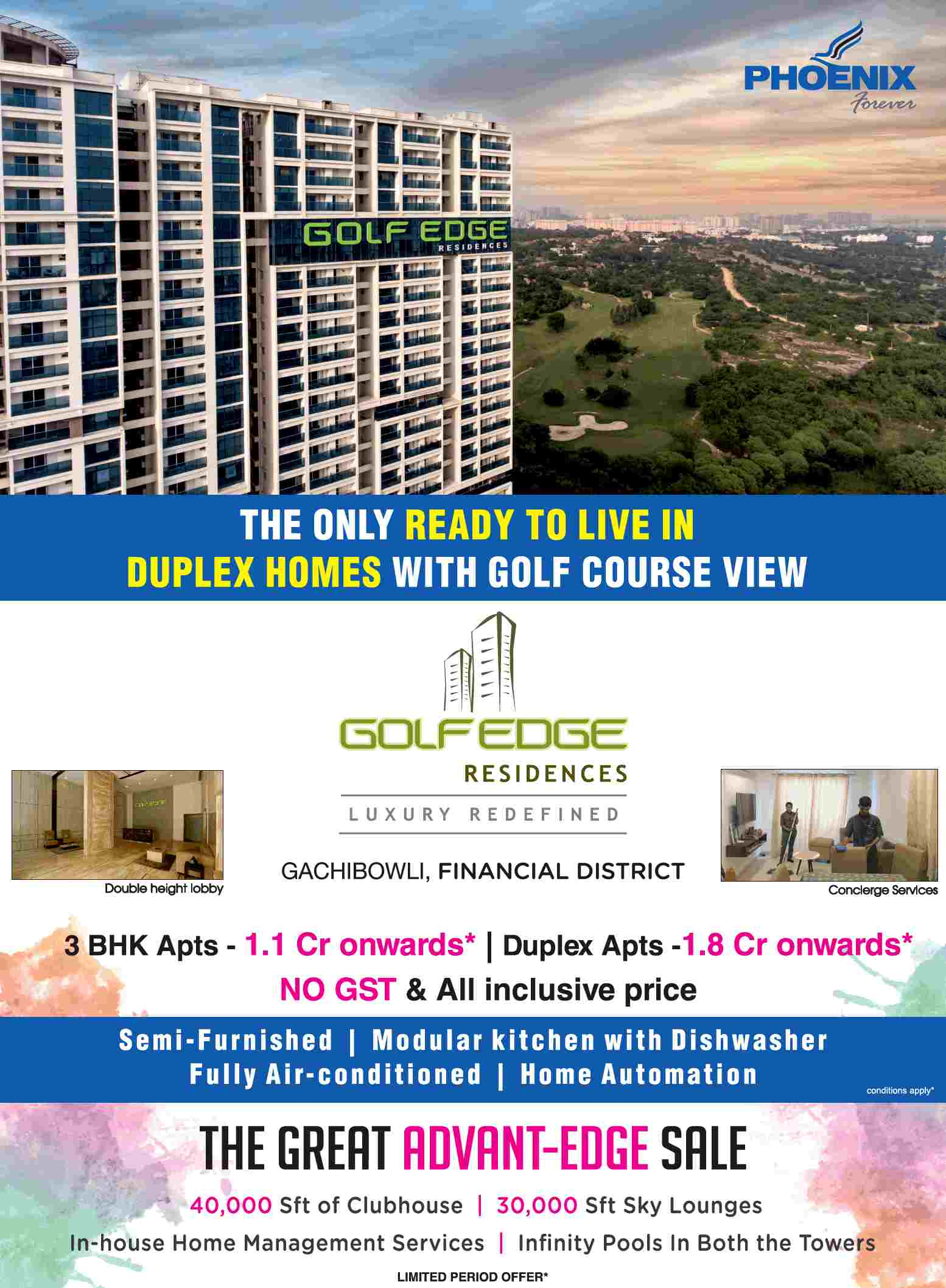 Live in the only ready to live duplex homes with golf course
