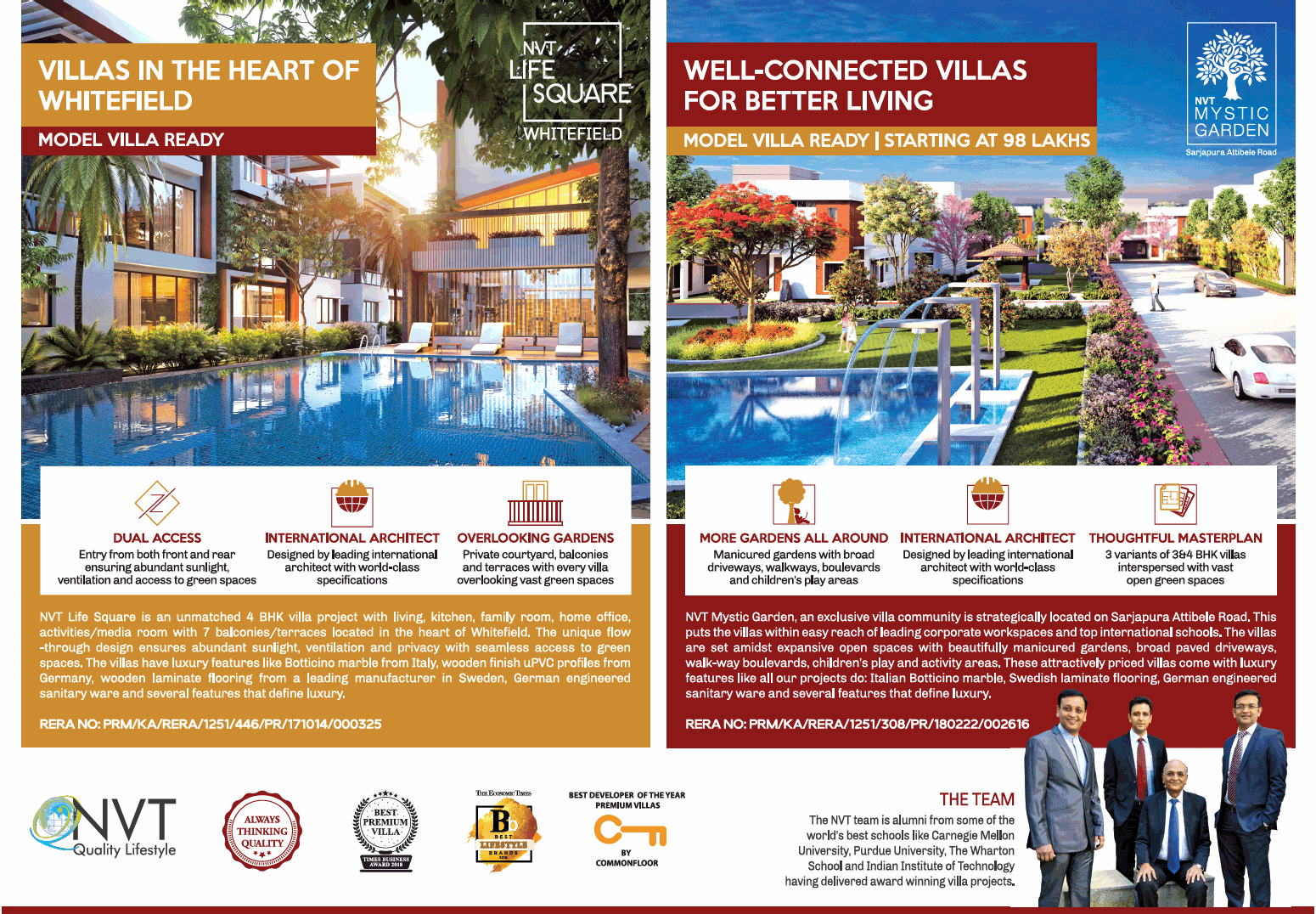Avail model villa ready at NVT Projects in Bangalore