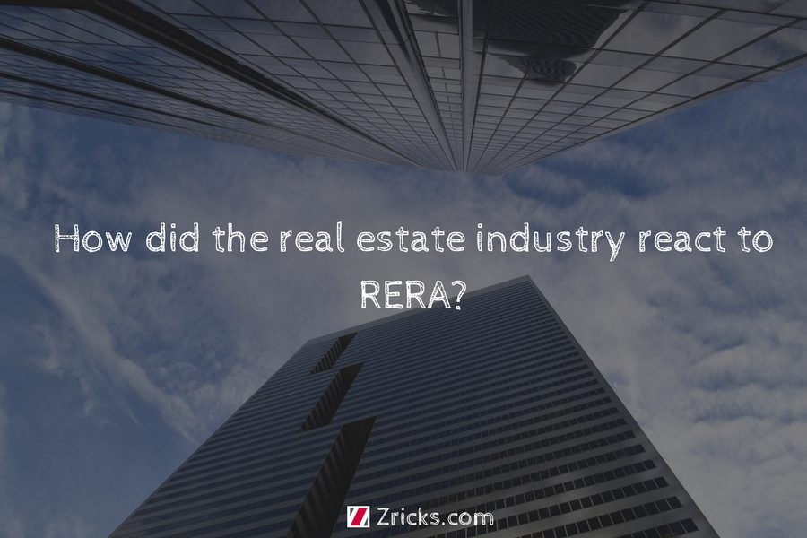 How did the real estate industry react to RERA