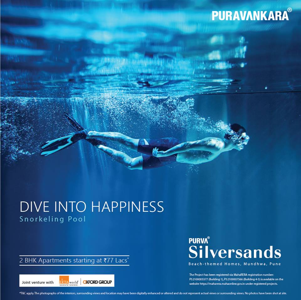 Book 2 BHK Rs 77 Lacs at Purva Silver Sands in Mundhwa Pune