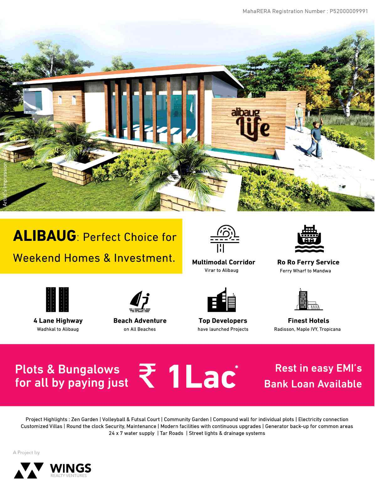 Wings Alibaug Life Is The Perfect Choice For Weekend Homes Investment In Mumbai