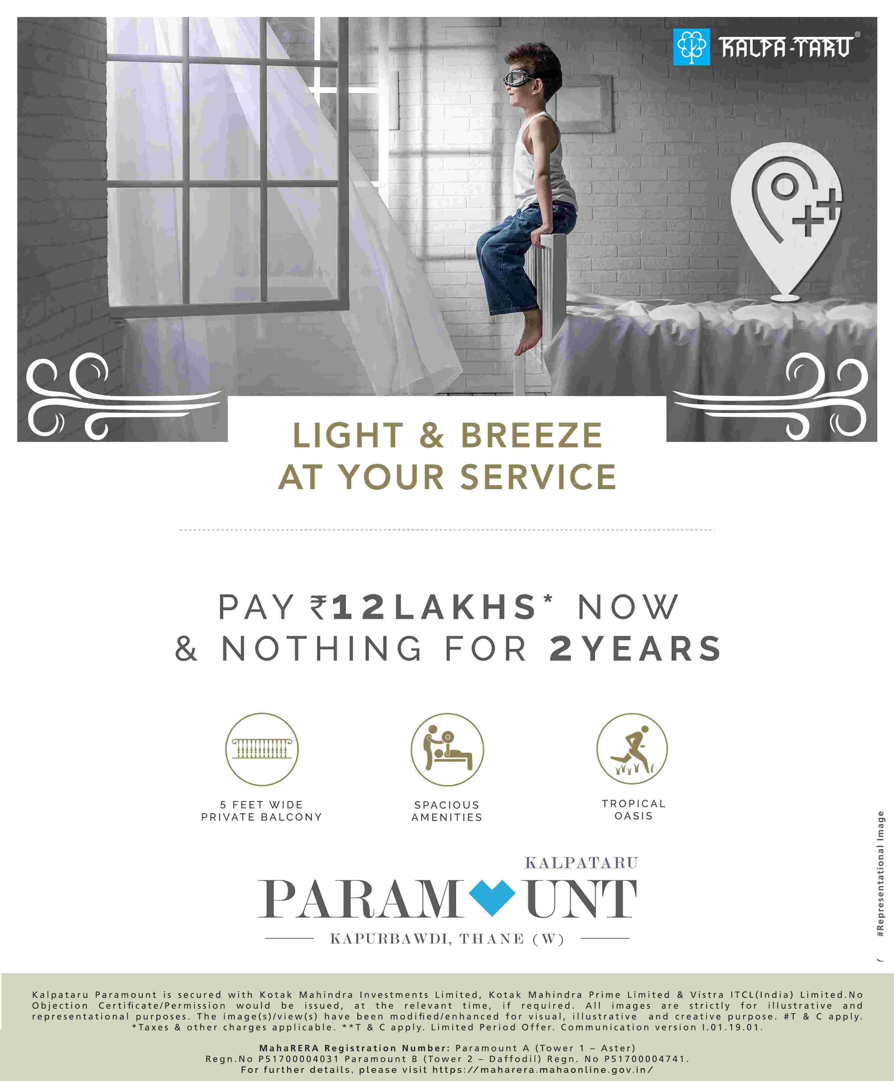 Pay Rs 12 Lakhs Now And Nothing For 2 Years At Kalpataru Paramount