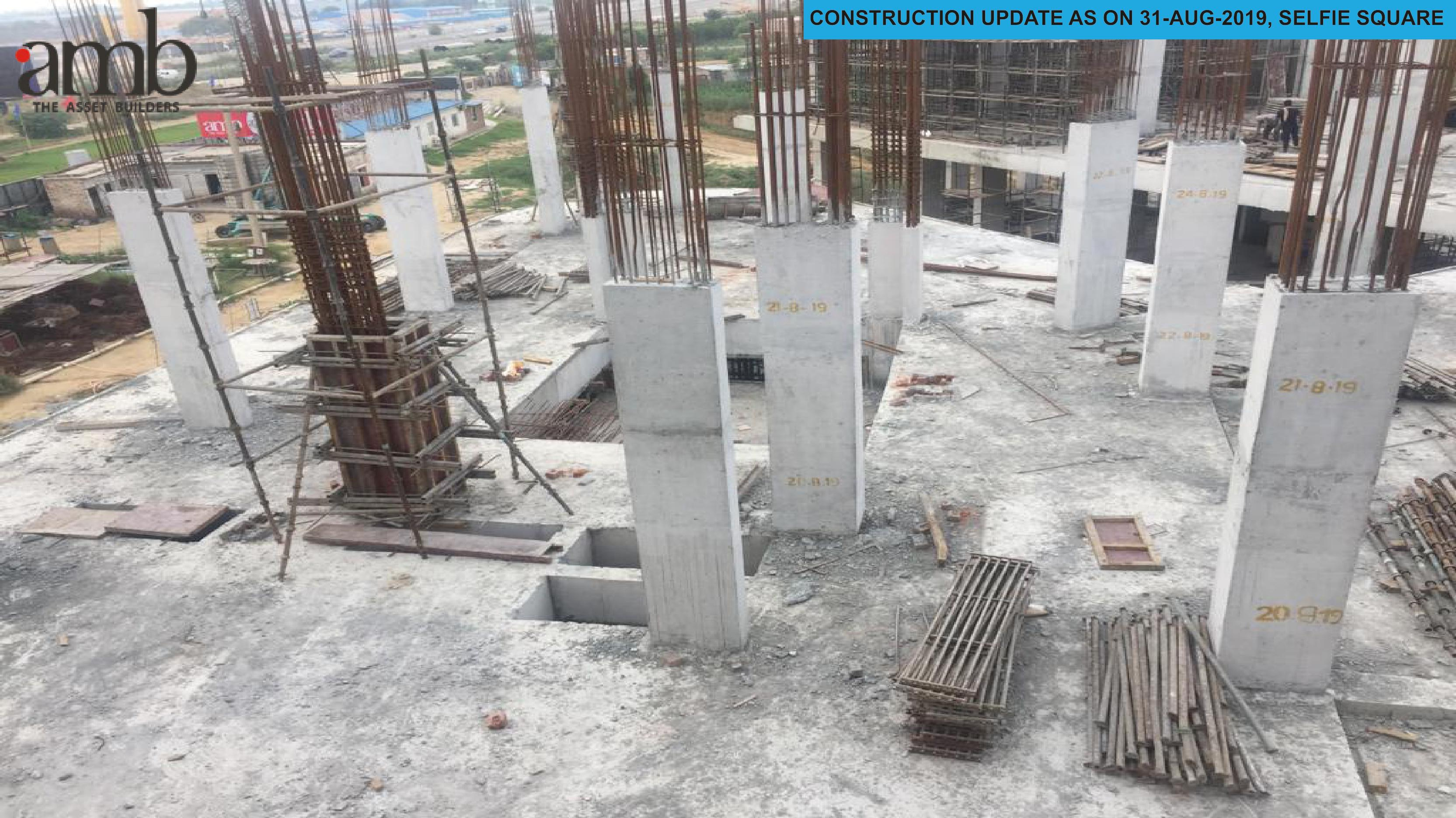 Construction updates of AMB Selfie Square as on Aug 2019 Photo