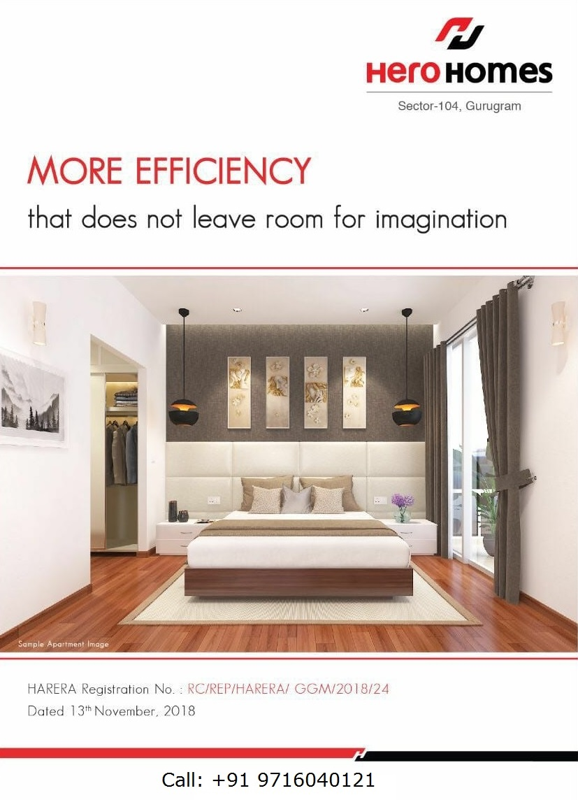 More efficiency that does not leave room for imagination at Hero Homes in Gurgaon