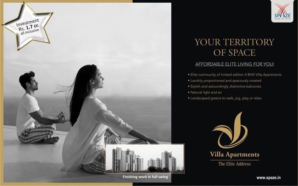 Enjoy Affordable Elite Living At Spaze Villa Apartments